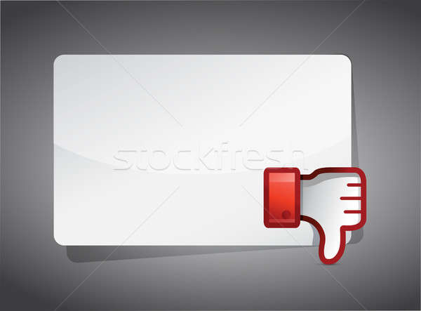 Mesaj tahta sevmemek ikon başparmak aşağı Stok fotoğraf © alexmillos