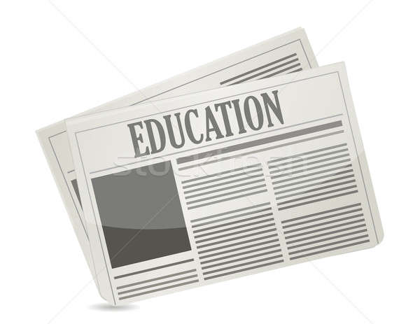 education newsletter illustration design over a white background Stock photo © alexmillos