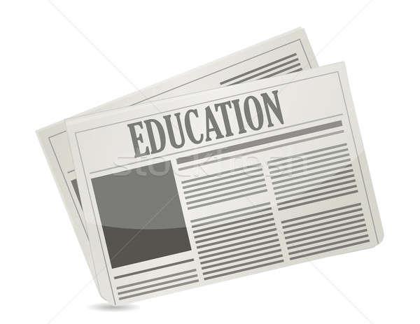 教育 ニュースレター 実例 デザイン 白 新聞 ストックフォト © alexmillos