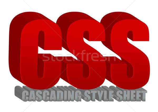 CSS text illustration design over a white background Stock photo © alexmillos