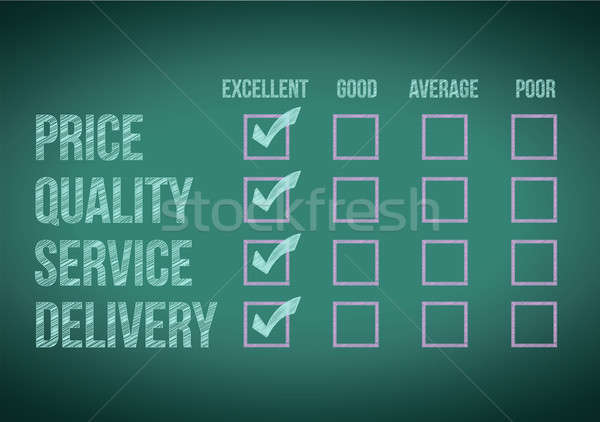evaluate customer survey form illustration design over a white b Stock photo © alexmillos
