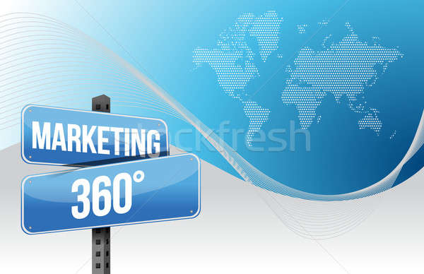 Marketing negócio azul mundo estrada mapa Foto stock © alexmillos