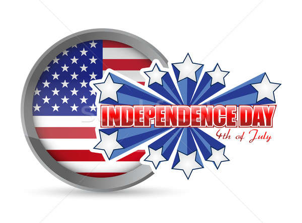 Fourth of july, independence day seal Stock photo © alexmillos