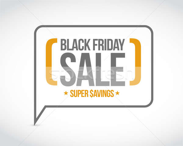 черный продажи сообщение иллюстрация дизайна графических Сток-фото © alexmillos
