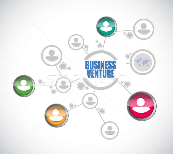 business venture people diagram sign concept Stock photo © alexmillos
