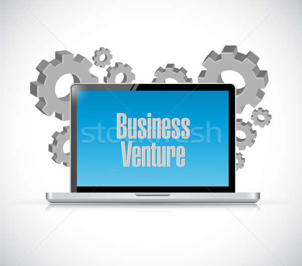 business venture computer sign concept Stock photo © alexmillos