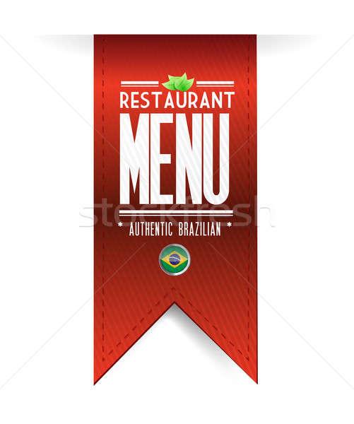 brazilian restaurant texture banner Stock photo © alexmillos