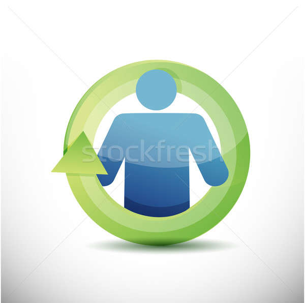 icon cycle illustration design Stock photo © alexmillos
