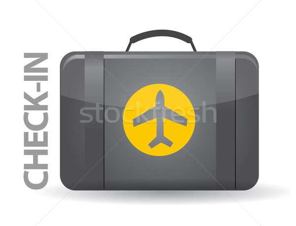 Check-in bag illustration design over white background Stock photo © alexmillos