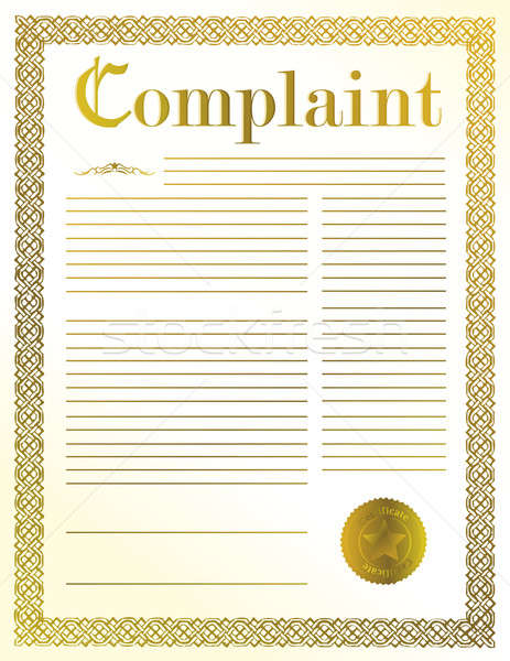 complaint legal document illustration design with golden seal Stock photo © alexmillos