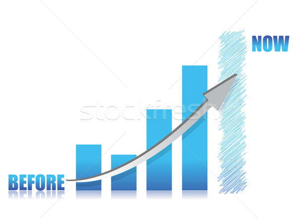 business conception -blue glass graph illustration design Stock photo © alexmillos