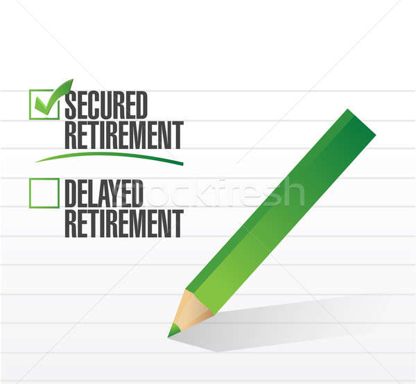 secured retirement selected with a check mark. illustration desi Stock photo © alexmillos