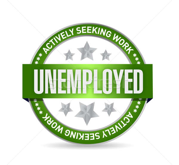Unemployed Stamp illustration design over a white background Stock photo © alexmillos