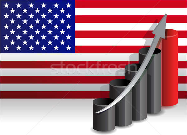 US economy improving business graph illustration design Stock photo © alexmillos
