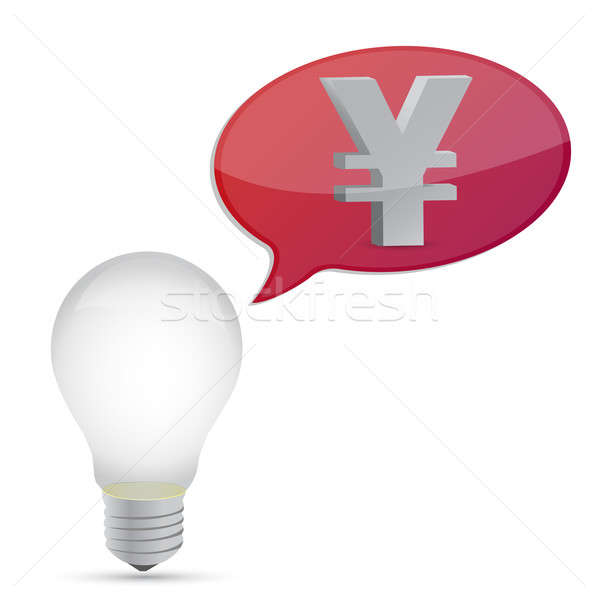Yen energia lampadina illustrazione design Foto d'archivio © alexmillos