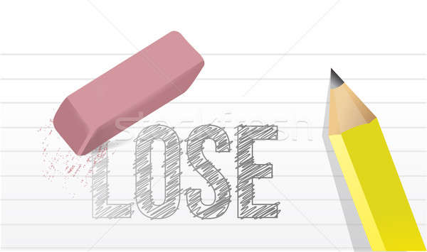 Erase loses concept illustration design Stock photo © alexmillos