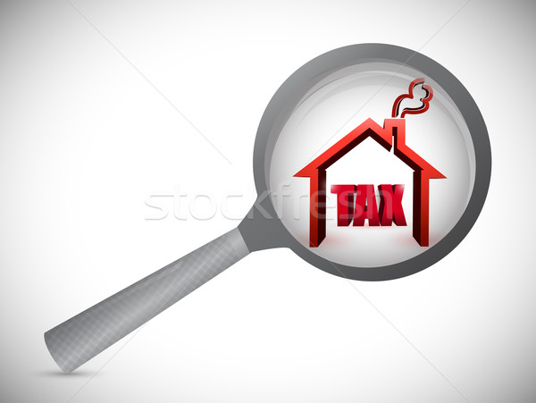 home tax review investigation illustration design over white Stock photo © alexmillos
