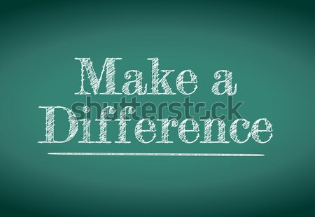 make a difference message written on a blackboard Stock photo © alexmillos