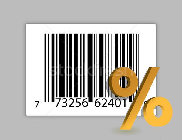 Código de barras desconto ilustração projeto sólido cor Foto stock © alexmillos