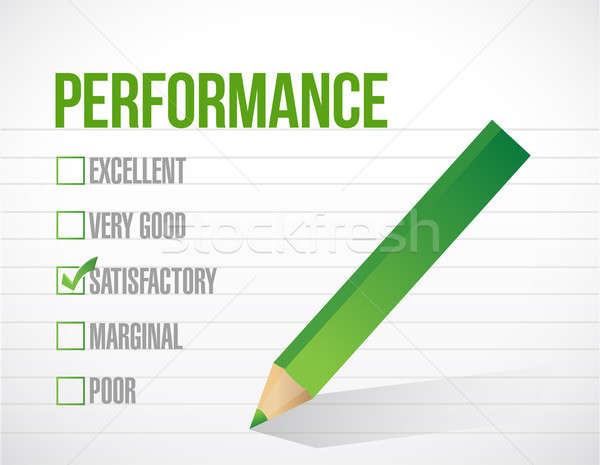 satisfactory performance review illustration design graphic over Stock photo © alexmillos