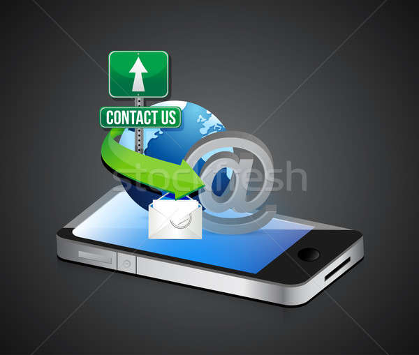 Smartphone illustratie ontwerp grafische business Stockfoto © alexmillos