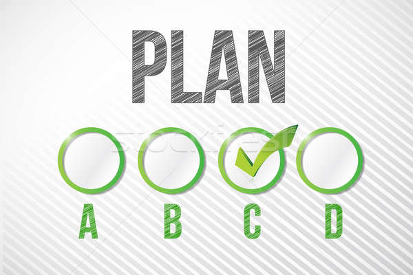 choosing plan c illustration design over a white paper backgroun Stock photo © alexmillos