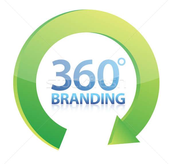 360 degrees Branding concept illustration design over white Stock photo © alexmillos