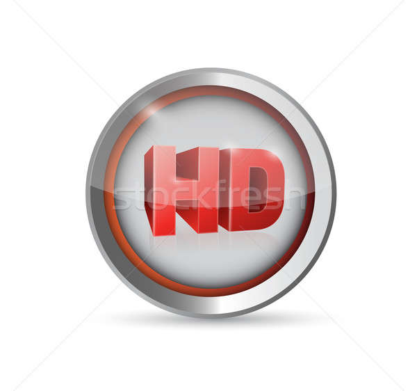 Hd bouton symbole illustration design Photo stock © alexmillos