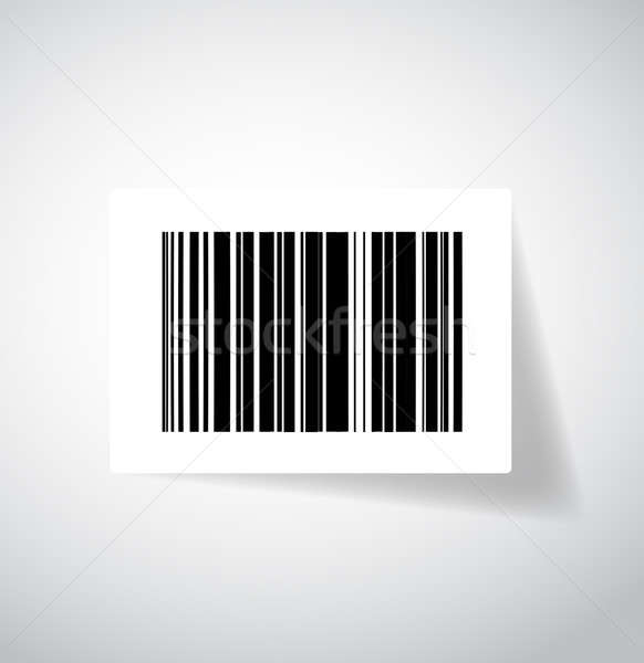 Stock foto: Barcode · Aufkleber · Illustration · Design · Technologie · Warenkorb