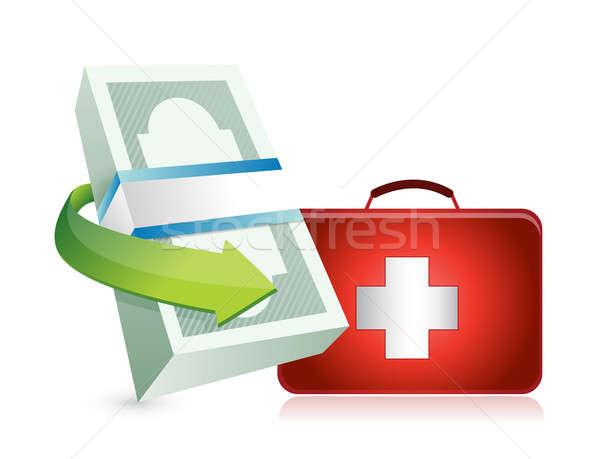 Economy crisis protection kit illustration  Stock photo © alexmillos