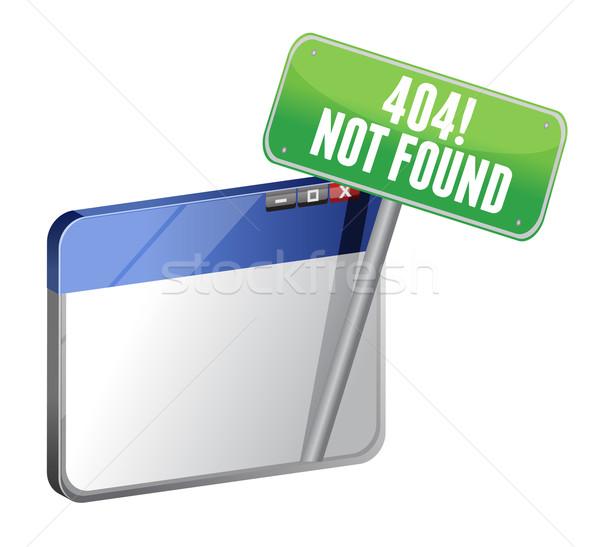 404 страница не браузер фон знак Сток-фото © alexmillos