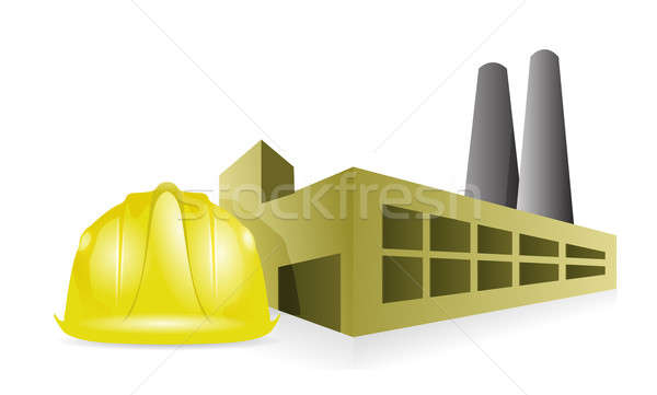 Factory construction Stock photo © alexmillos