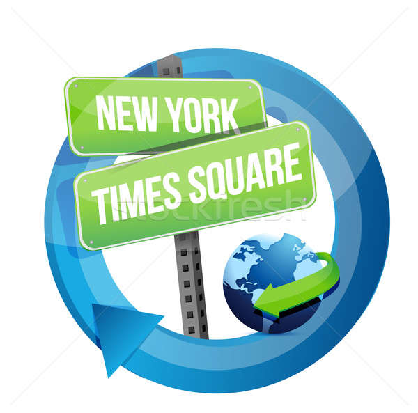 New York, Times square road symbol illustration  Stock photo © alexmillos