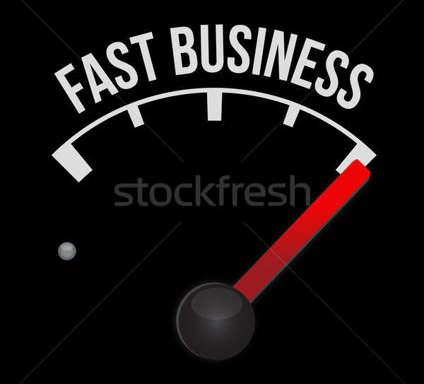 Fast business Speedometer scoring high speed  Stock photo © alexmillos