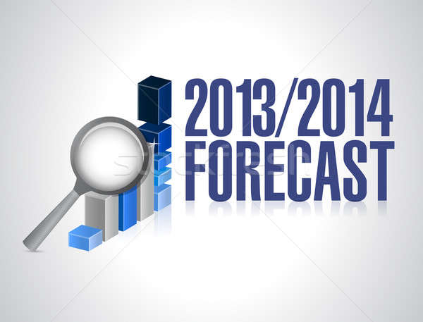 2013 2014 business forecast concept illustration Stock photo © alexmillos