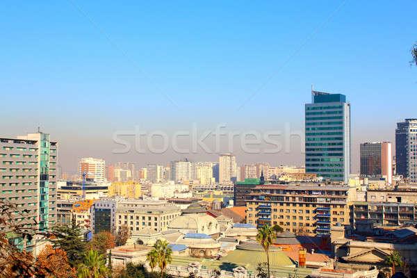 サンティアゴ チリ 金融街 ビジネス 空 ストックフォト © alexmillos