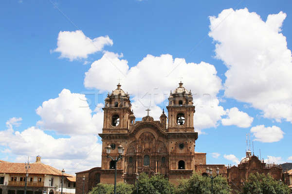 Historic Iglesia de la Compania in the Plaza de Armas of Cusco i Stock photo © alexmillos