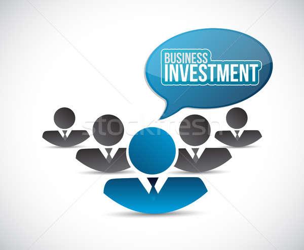 Działalności inwestycja zespołowej podpisania ilustracja projektu Zdjęcia stock © alexmillos