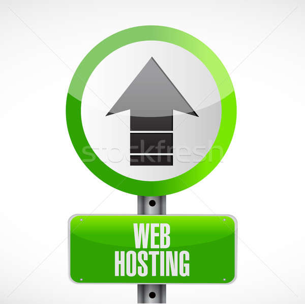 Web hosting street sign concept illustration Stock photo © alexmillos
