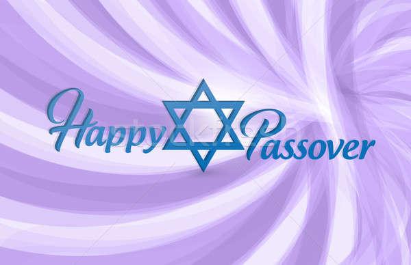 Mutlu Yahudilerin hamursuz bayramı imzalamak kart örnek dizayn Stok fotoğraf © alexmillos