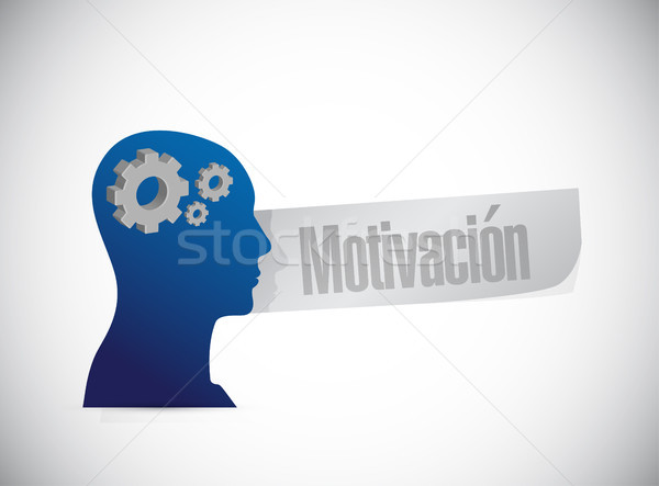 Motivation mind sign in Spanish concept Stock photo © alexmillos
