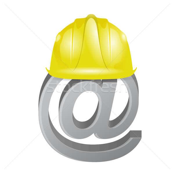 under construction internet online sign Stock photo © alexmillos