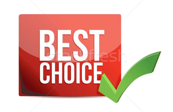 Лучший выбор проверить иллюстрация дизайна белый Сток-фото © alexmillos