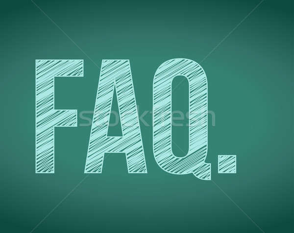 FAQ. frequently ask questions concept Stock photo © alexmillos