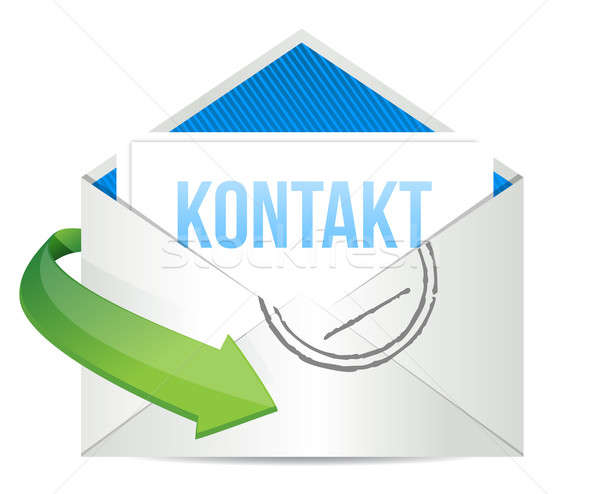 german contact us icon illustration design Stock photo © alexmillos