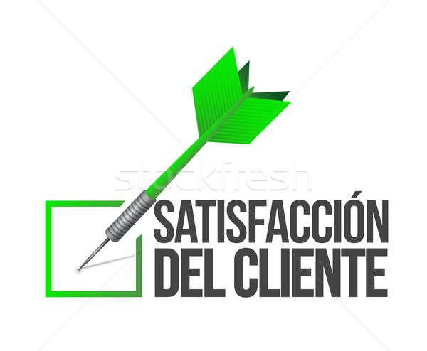испанский целевой хорошие обслуживание клиентов иллюстрация дизайна Сток-фото © alexmillos