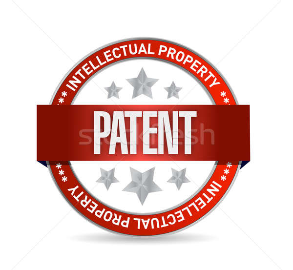 Patente sello sello ilustración diseno blanco Foto stock © alexmillos