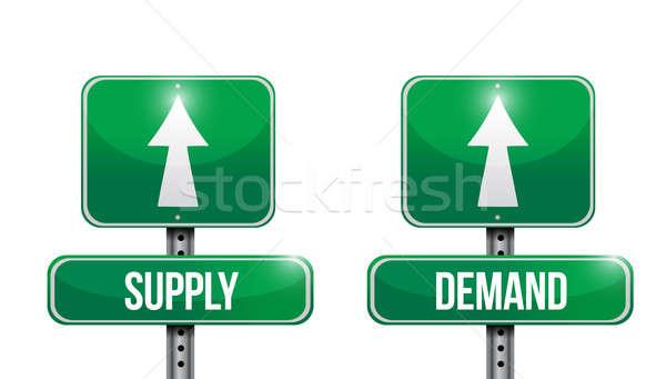 Suministrar demanda senalización de la carretera ilustraciones diseno blanco Foto stock © alexmillos