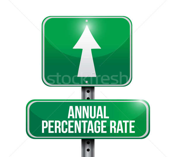annual percentage rate road sign illustrations Stock photo © alexmillos