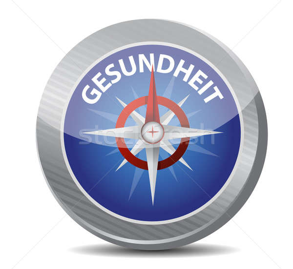 guide to great health in german. compass Stock photo © alexmillos